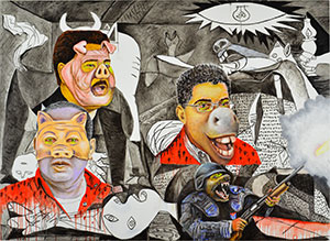 Guernica in Venezuela, by Rafael Gallardo